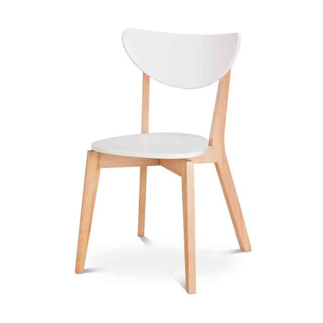 Wooden white chair